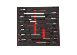BOXO 15PCE SCREWDRIVER SET IN EVA FOAM