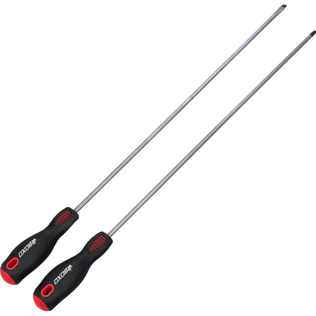 BOXO 2PCS LONG REACH SCREWDRIVER SET