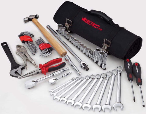 BOXO 57PC ROLL BAG TOOL SET