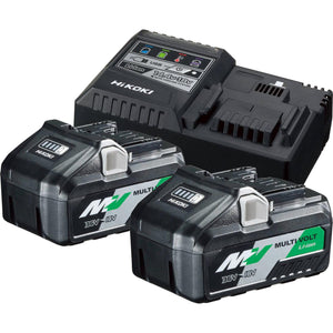 HIKOKI 36V POWER PACK (2 X 5AH MULTI VOLT LI-ION BATTERIES & CHARGER)