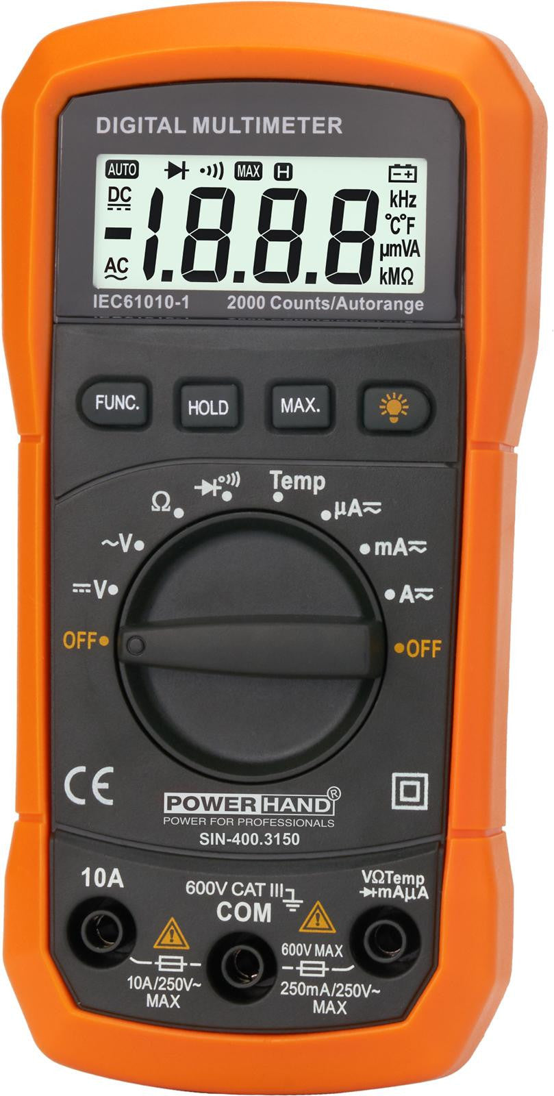 POWERHAND DIGITAL AUTOMOTIVE MULTIMETER