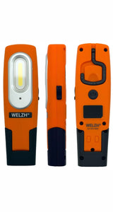 Rechargeable LED Inspection Lamp COB Work Light Super Bright 2W ORANGE - M-Tool Workshop Supplies