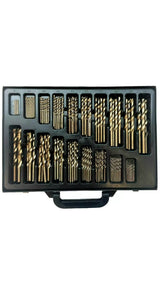 Cobalt Drill Bit Set 170-Piece Fully Ground 1mm to 10mm - M-Tool Workshop Supplies