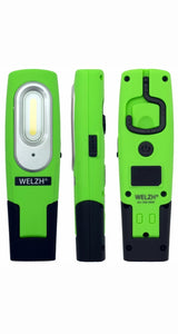 Rechargeable LED Inspection Lamp COB Work Light Super Bright 2W GREEN