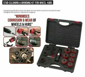Stud Cleaning and Grinding Kit for Wheel Hubs - M-Tool Workshop Supplies