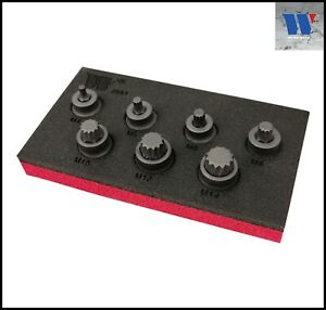 EXTRA STUBBY SPLINE BIT SOCKET SET M4-M14 - M-Tool Workshop Supplies