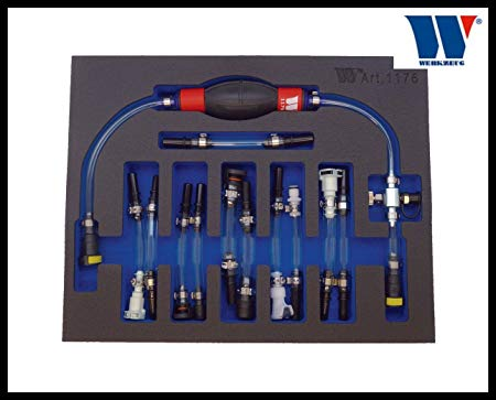 Werkzueg - Diesel Priming & Bleeding Kit, Universal Ford, Rover Opel - M-Tool Workshop Supplies