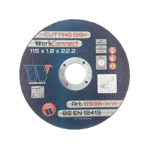 Cutting Disk For Stainless Steel 115 x 1.0 x 2.2mm WerkConnect™ (400 per box)