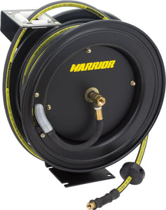 Warrior™ Premium Retractable Rubber Air Hose Reel; 3/8'' x 15m (High Visibility)