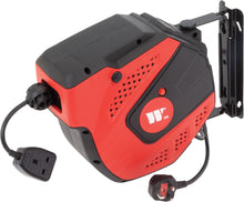 Load image into Gallery viewer, Retractable Power Cable Reel 15m for Electrical Tools UK fittings