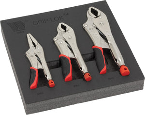3-Piece Grip-Lok™ Locking Plier Set
