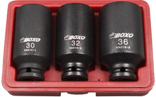 Load image into Gallery viewer, BOXO 3PC HUB NUT SOCKET SET