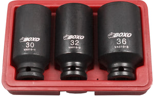 BOXO 3PC HUB NUT SOCKET SET