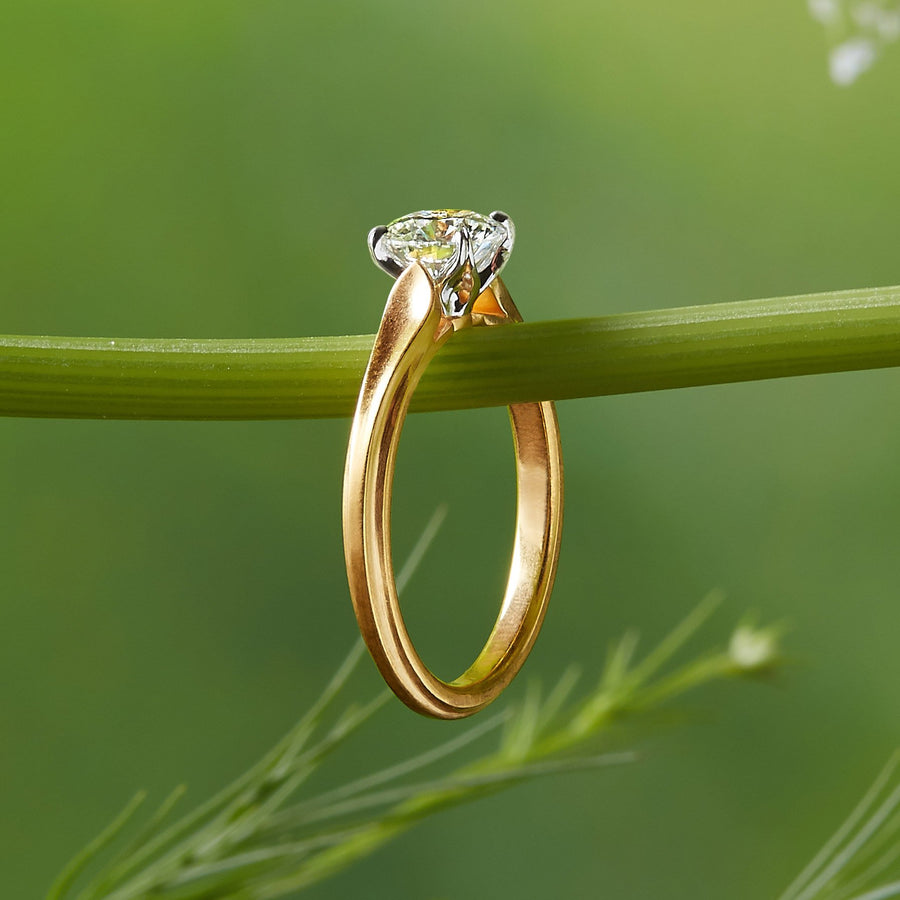 Wildflower Daisy Petal Embrace Engagement Ring
