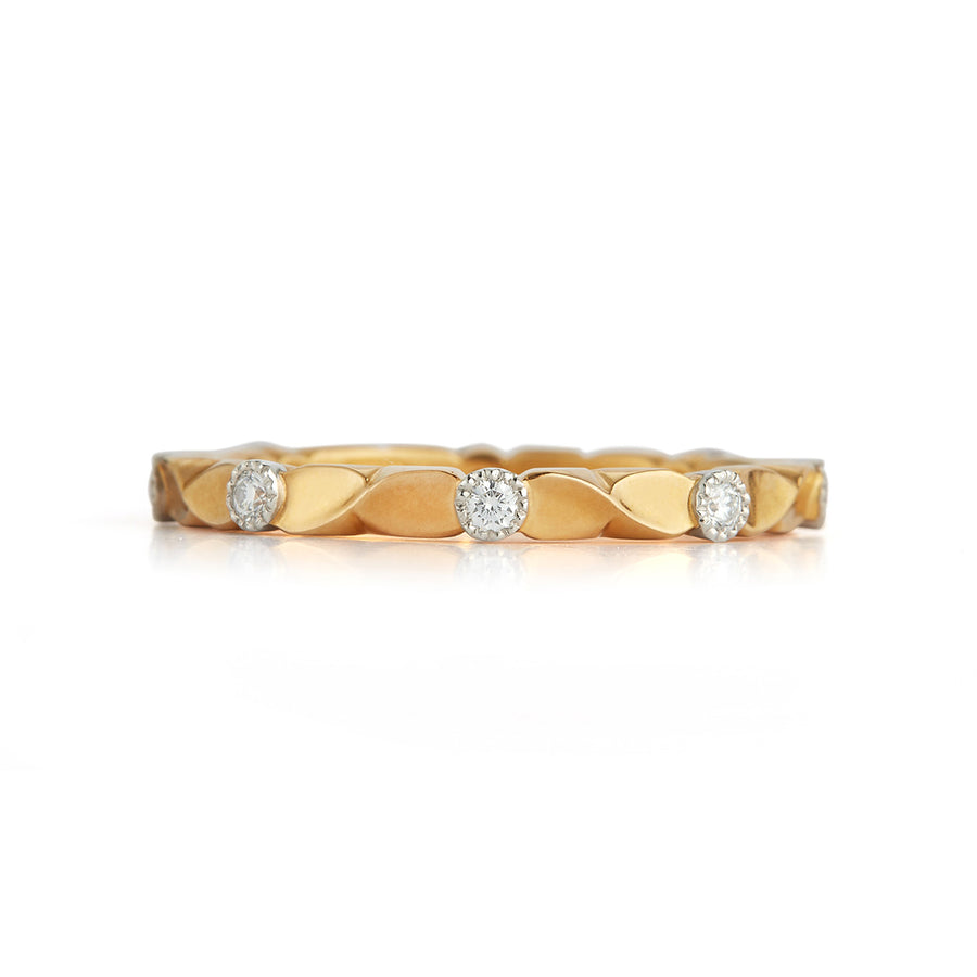 Wildflower Collection Diamond Vine Wedding Band