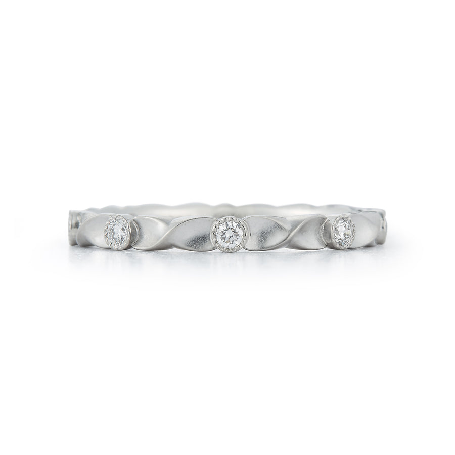 Wildflower Diamond Vine Wedding Band