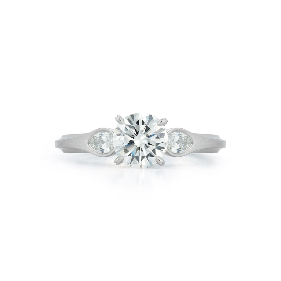 Wildflower Water Lily Embrace Engagement Ring