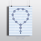 The Benedict Rosary Print