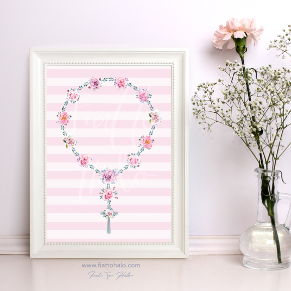 The Emmeline Rosary Print