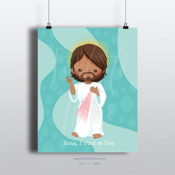 Divine Mercy Jesus Children's Print