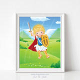 St. Michael the Archangel Children's Print