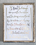 St Michael the Archangel Prayer Foil Print Unframed