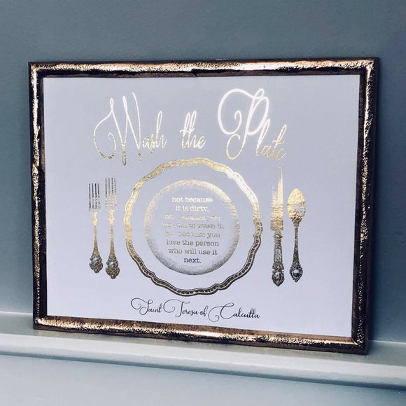 Wash the Plate Foil Print