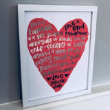 Love is Patient 1 Corinthians Foil Print Unframed