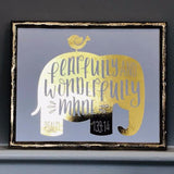 Fearfully and Wonderfully Made Foil Print Unframed