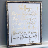 Hail Mary Prayer Foil Print Unframed