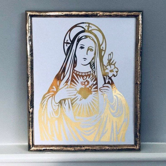 Immaculate Heart of Mary Foil Print