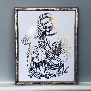 St Joseph and Child Jesus Foil Print