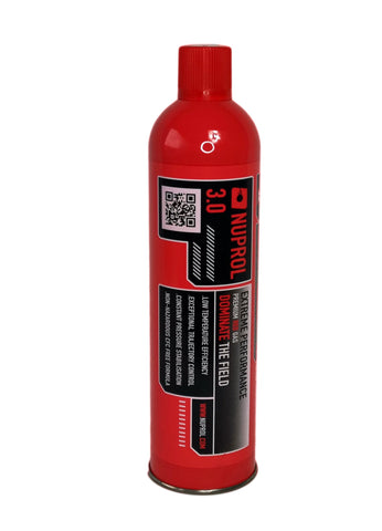 Nuprol 3.0 Extreme Performance Gas  for gas blowback airsoft guns - low temperature gas performance