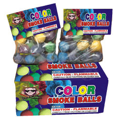Color Smoke Balls Clay Box