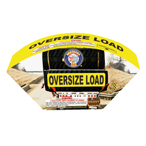 Oversize Load | 500G Fountains | Brothers Fireworks