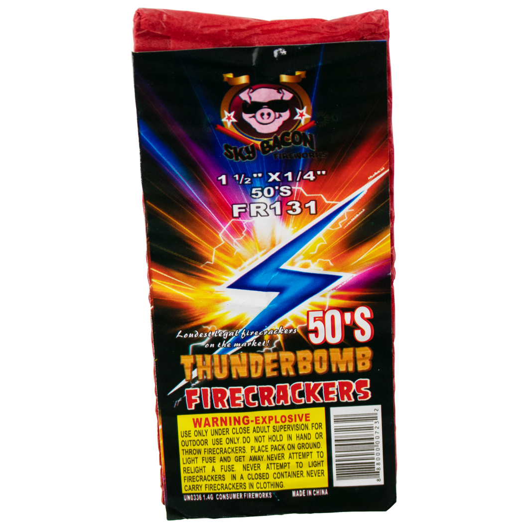 50 shot thunderbomb firecracker brick