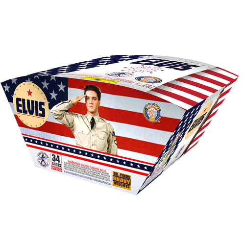 Elvis Red, White, and Blue