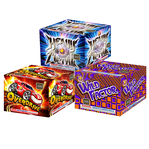 Wild Over Metal | 350 Gram Cakes | Assortment | Firehawk Fireworks