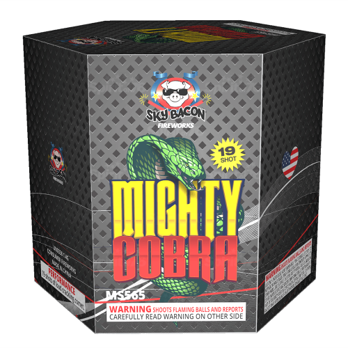 Mighty Cobra | 200 Gram Cake | Sky Bacon Fireworks
