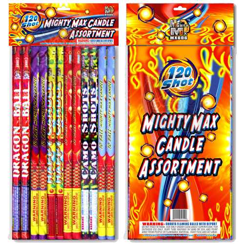 Mighty Max Candle Asst | Roman Candle | Mighty Max Fireworks