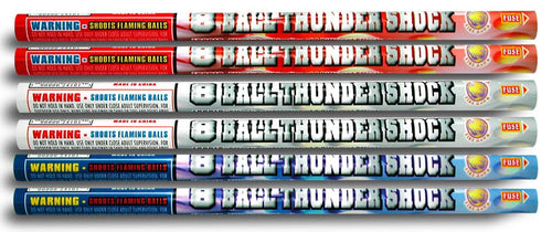 Thunder Shock - 8 shots | Roman Candles | Firehawk Fireworks