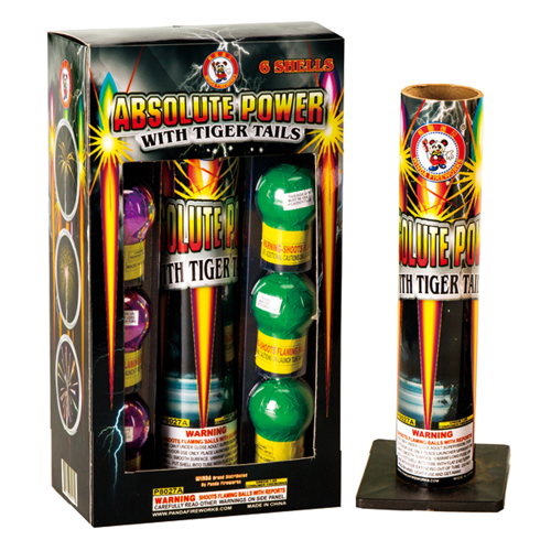 absolute power with giant silver tail fireworks
