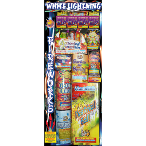 White Lightning Assortment | Assortment | Firehawk Fireworks
