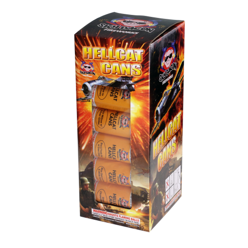Hellcat Cans 1.75in Canisters | Artillery Shells | Sky Bacon Fireworks