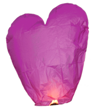 Load image into Gallery viewer, Pink Heart Sky Lantern