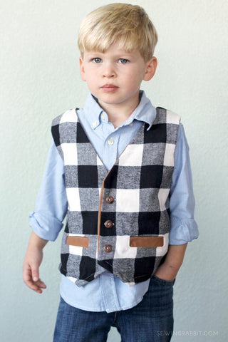 Prep School Boys Vest Pattern