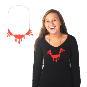 "Beistle Party Decoration Dripping Blood Necklace 14""- Pack of 12"
