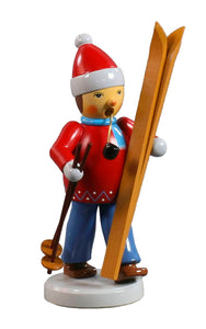 Alexander Taron Importer 002-32008 Dregeno in cense Burner Skier in a Red Coat with a Gloss Finish