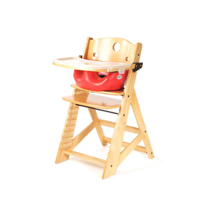 Height Right High Chair with Infant Insert, Tray & Tray Cover Natural - Cherry