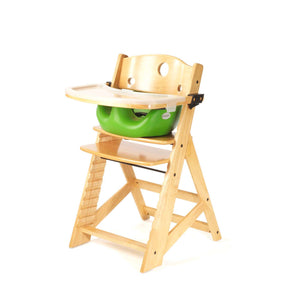 Height Right High Chair with Infant Insert, Tray & Tray Cover Natural - Lime